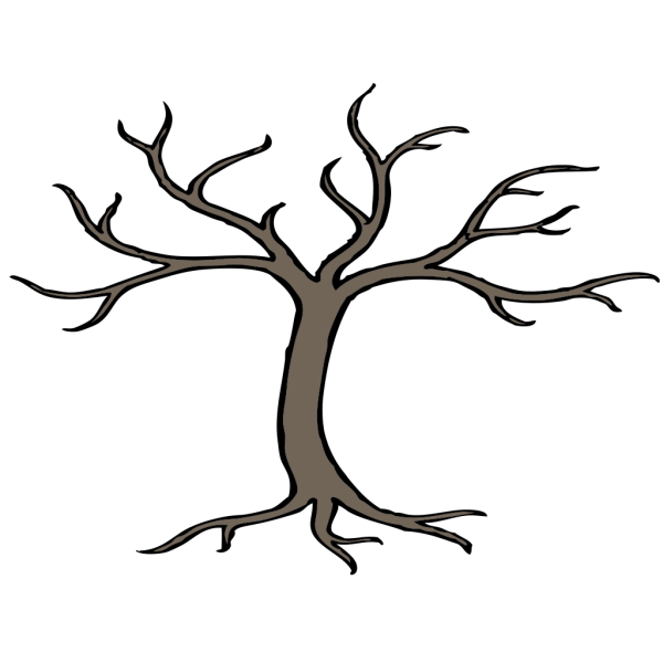 Tree With 3 Branches PNG Clip art