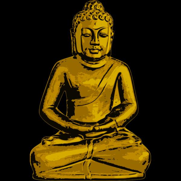 Golden Buddha PNG Clip art