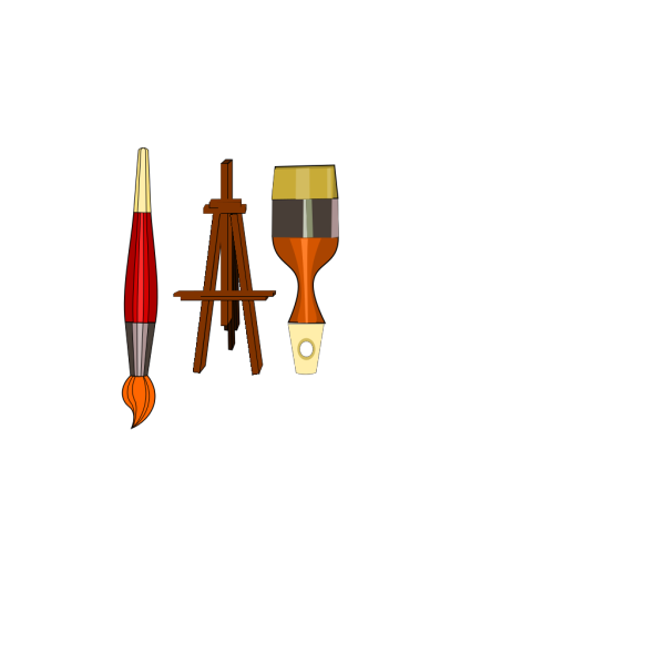 Painting Tools Brush Compass PNG Clip art
