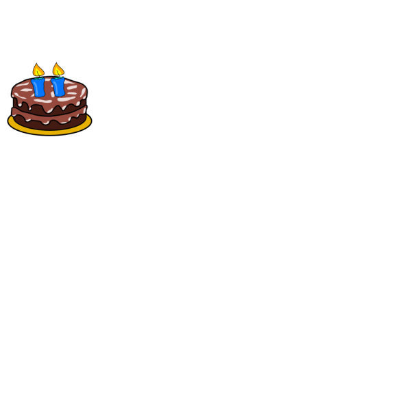 Cake With 2 Candles PNG Clip art