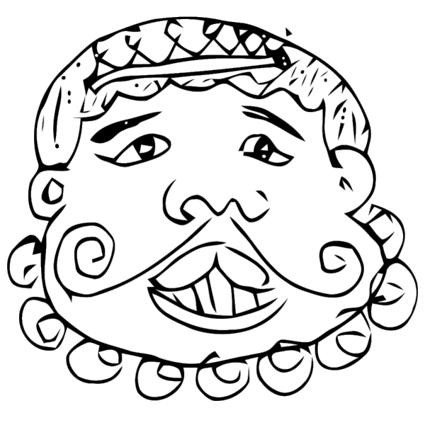 Cartoon Mustache Face PNG Clip art