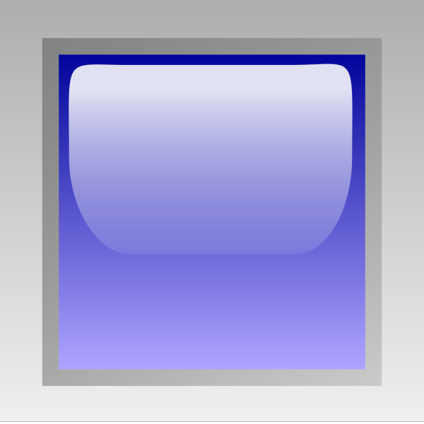 Led Square Blue PNG Clip art