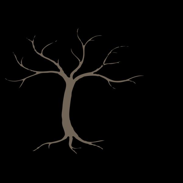Dead Tree Silhoutte PNG Clip art