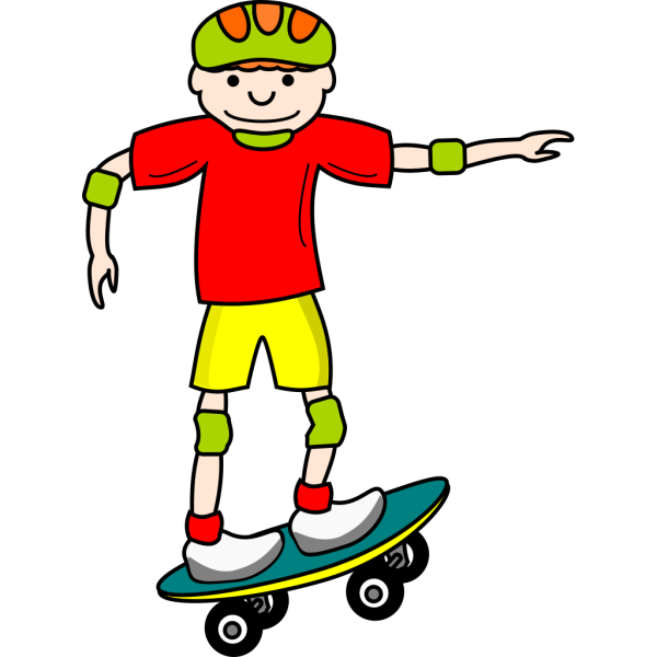 Skate Board Boy PNG Clip art