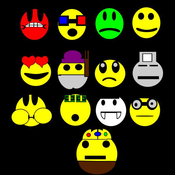 Faces Emoticons PNG Clip art