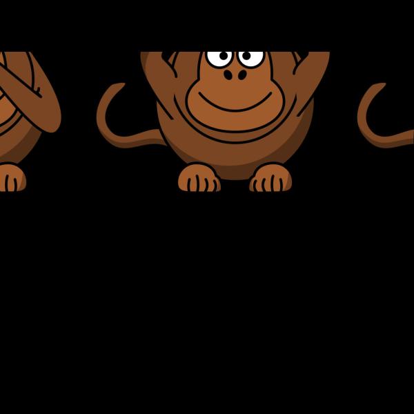 Wise Monkeys PNG Clip art