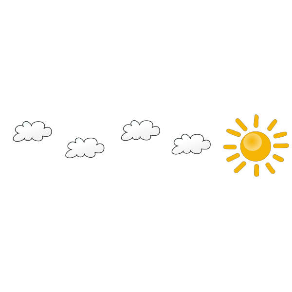 Sun And Clouds Cartoon PNG Clip art