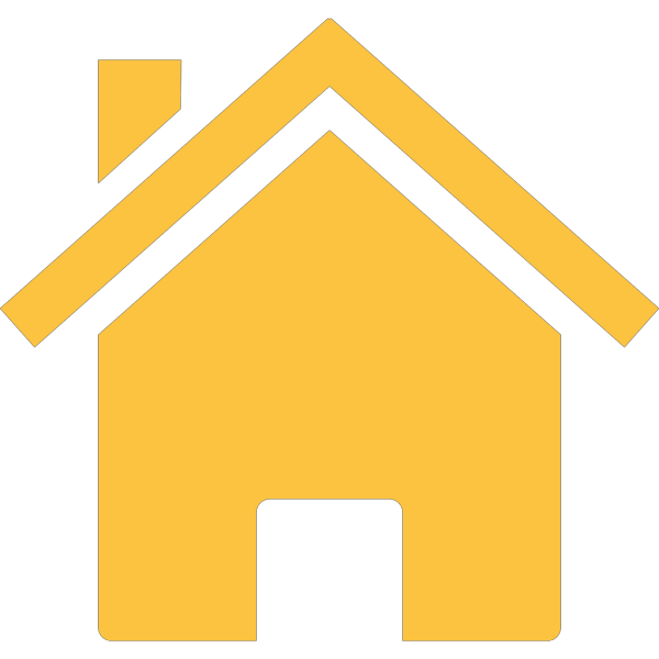 Yellow House 3 PNG Clip art