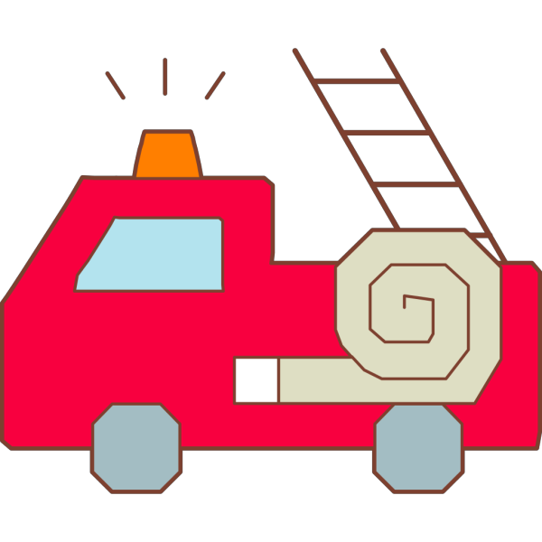 Red Fire Truck Hat 4 PNG icon