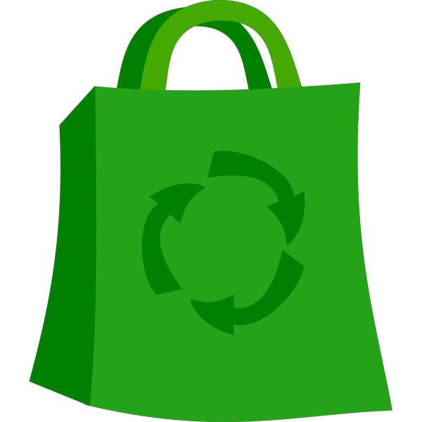 Green Shopping Bag PNG Clip art