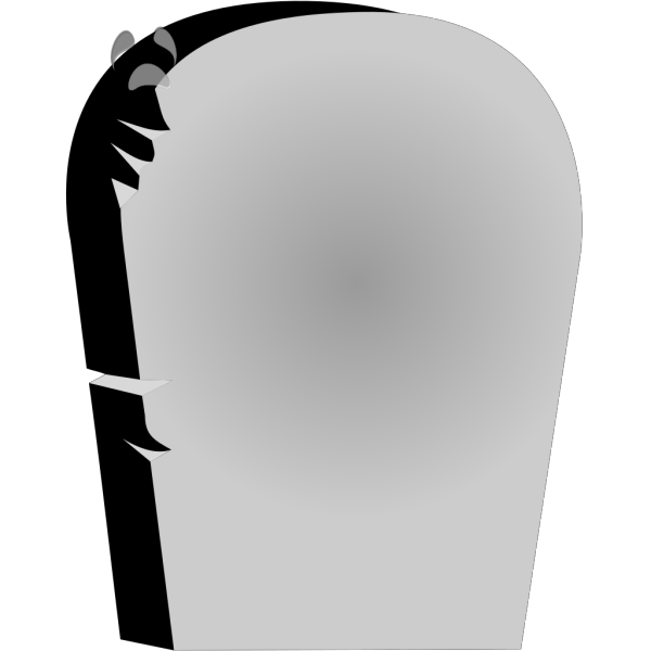 Rounded Tombstone With Sad Face PNG Clip art