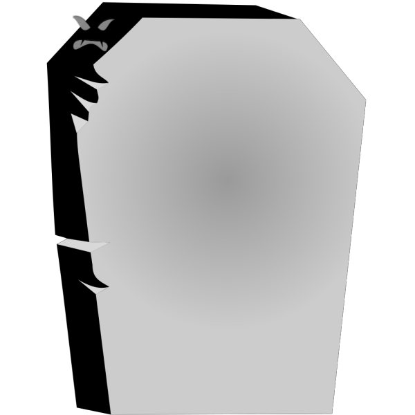 Tombstone With Angry Face PNG Clip art