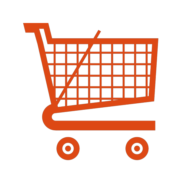 Orange Shopping Cart PNG Clip art