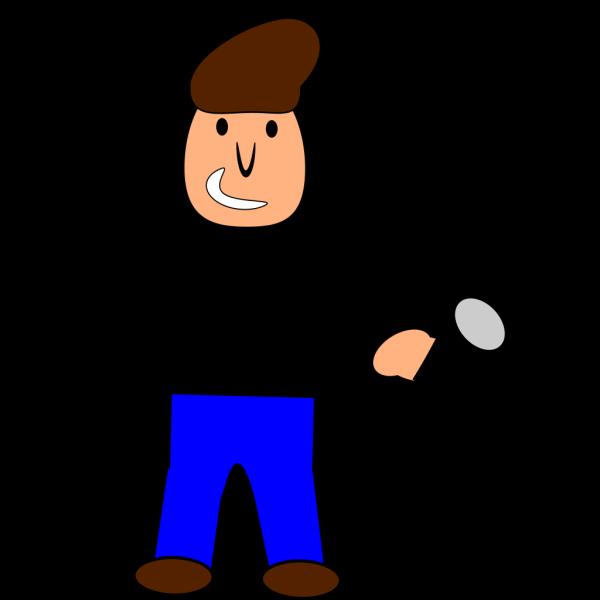 Cartoonish Singer PNG Clip art