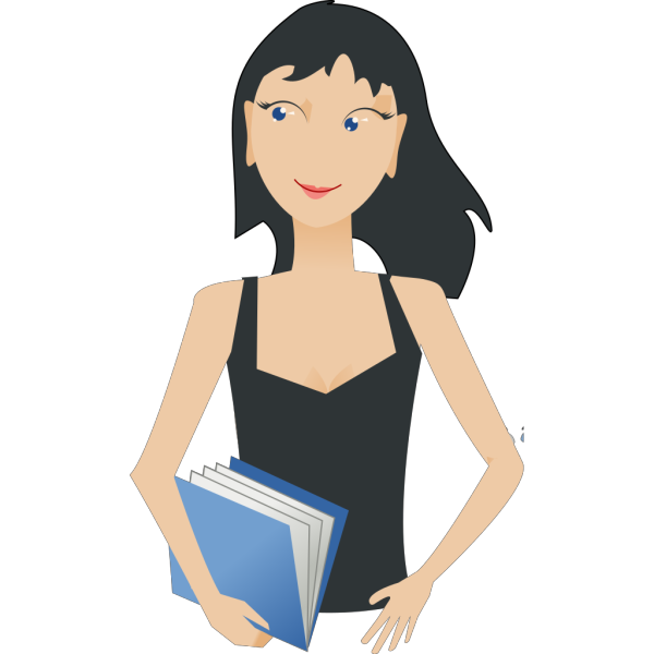 Student - Girl With Book clipart