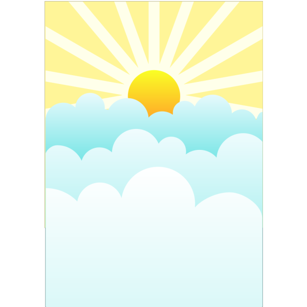 Sun With Spherical Sunrays PNG Clip art