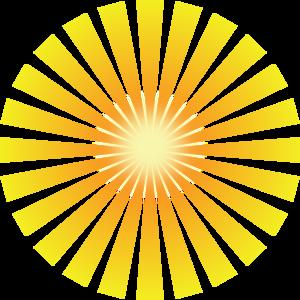 Golden Solar Rays PNG Clip art