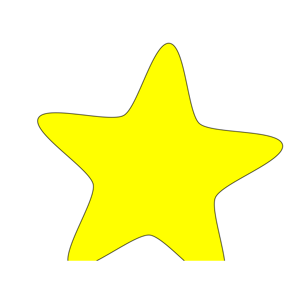 Five-pointed Yellow Star PNG Clip art