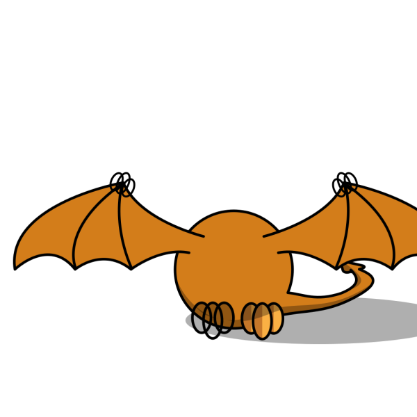 Pterodactly Lower Smaller Wings PNG Clip art