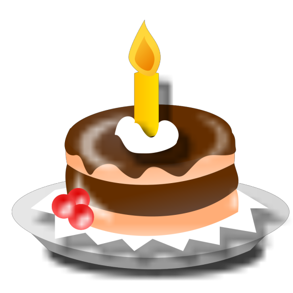 Birthday Cake And Candle PNG Clip art