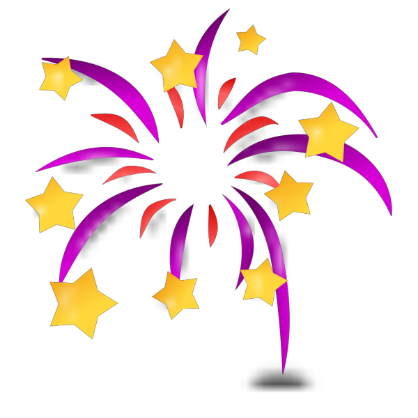 Cartoon Fireworks PNG images