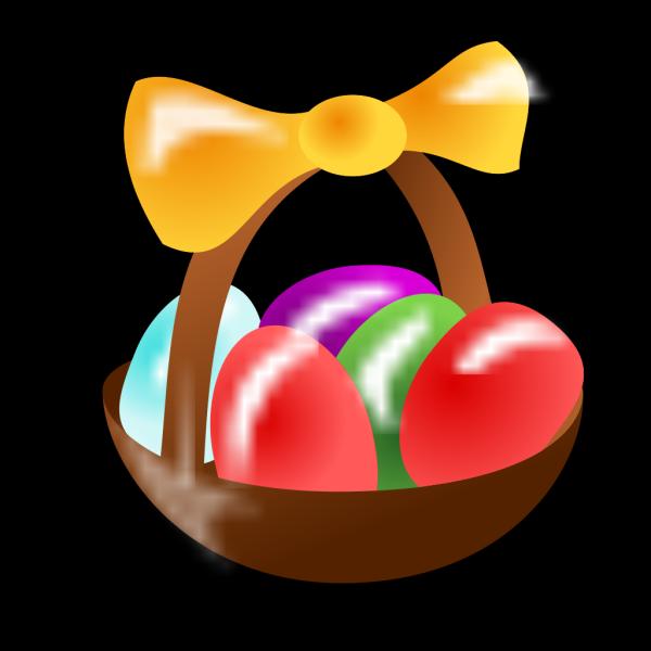 Easter Egg Basket PNG Clip art