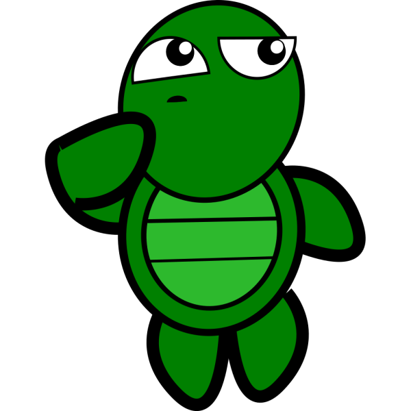 Turtle Thinking PNG Clip art