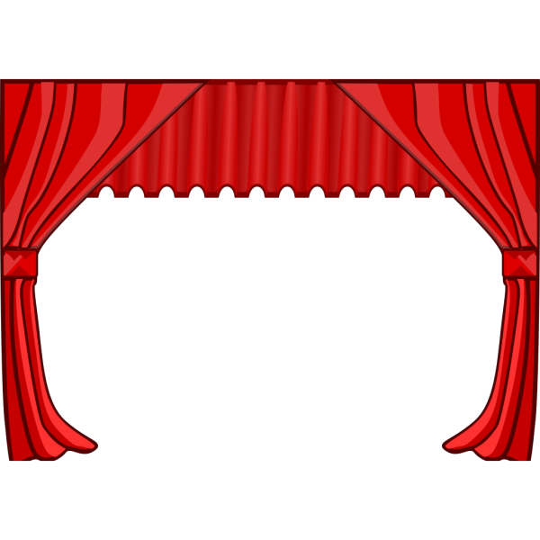 Theater Curtains PNG Clip art