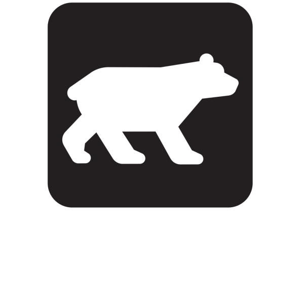 Bear Viewing Black PNG Clip art