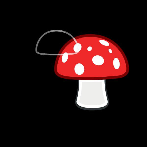Mushroom Red Spots PNG Clip art
