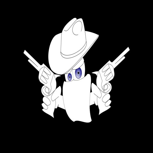 Cowboy Outline PNG Clip art