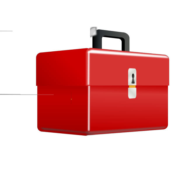 Red Metal Tool Box PNG icon