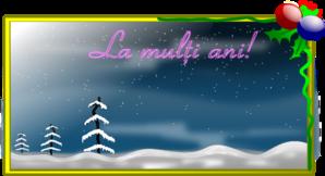 La Multi Ani! Card PNG Clip art
