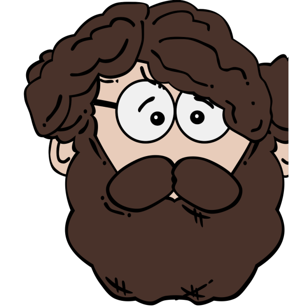 Man With Beard Cartoon PNG icons