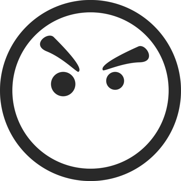 Angry Face Symbol PNG Clip art