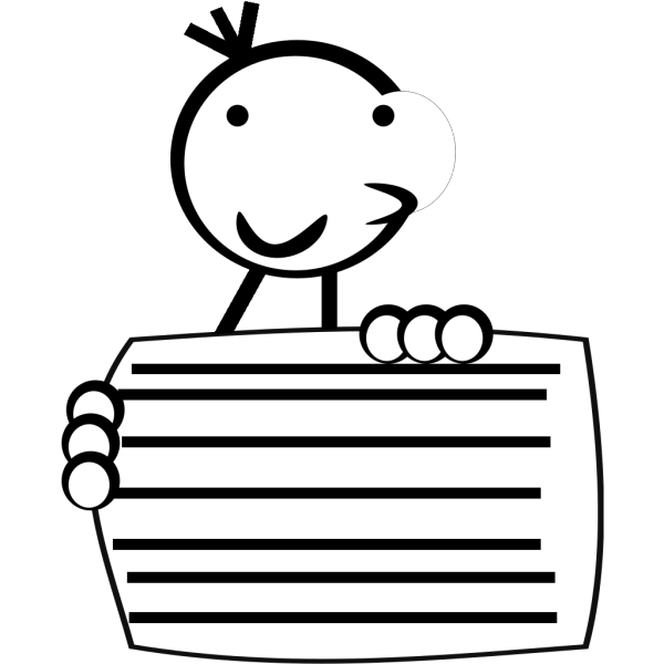 Kid Holding Sign PNG icons