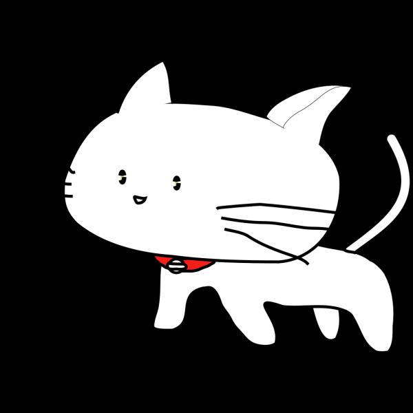 White Cartoon Cat PNG Clip art