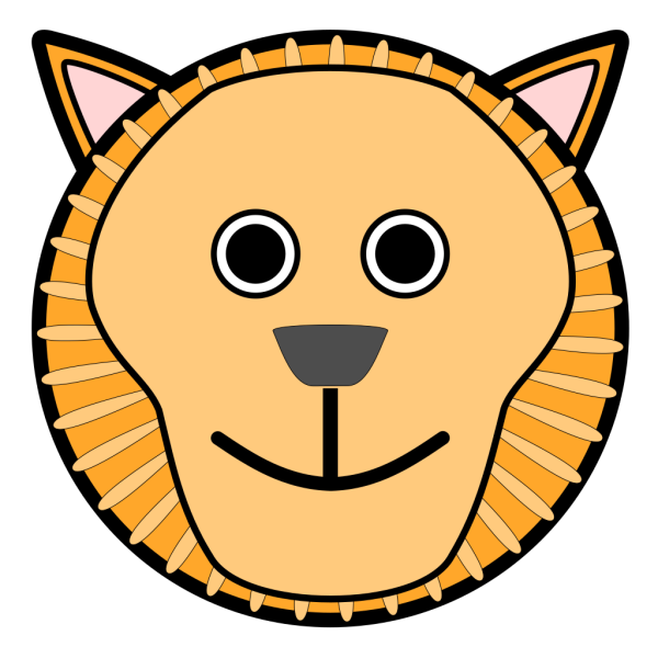 Lion Rounded Face