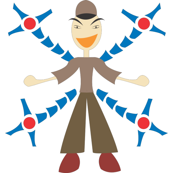 Man With Mechanic Arms PNG images