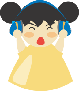 Girl With Headphones PNG Clip art