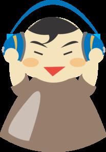 Asian Boy With Headphones PNG Clip art