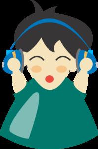 Boy With Headphones PNG Clip art