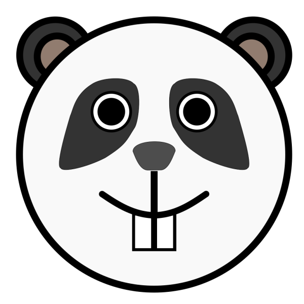 Panda Rounded Face PNG images