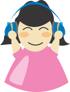 Girl With Headphones PNG images