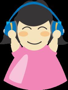 Girl With Headphones PNG Clip art