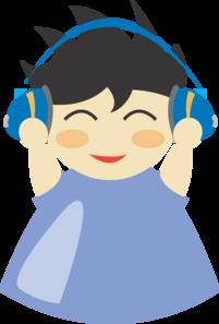 Boy With Headphones 2 PNG Clip art