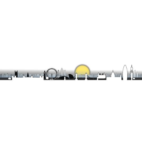 London Skyline Isolated PNG Clip art