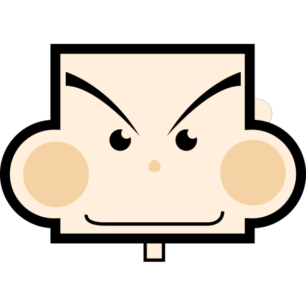Rectangle Face PNG Clip art