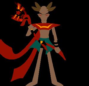 Man With Anubis Staff PNG Clip art