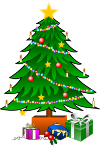Christmastree With Gifts PNG Clip art